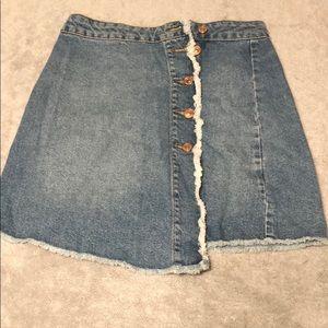 zara jeans skirt